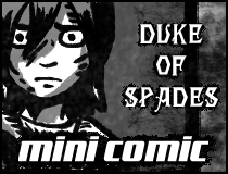 mini horror comic Duke of Spades